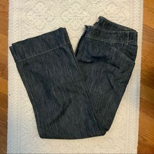 J. Jill Genuine Fit Size 8 Jean Trouser Wide Leg